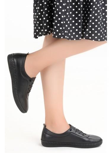Frida Frida 5001 Günlük %100 Deri FullComfort Orto pedik Bayan Ayakkabı Siyah